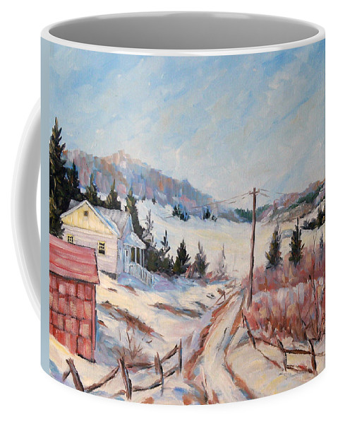 Road Coffee Mug featuring the painting Cottage Road by Richard T Pranke