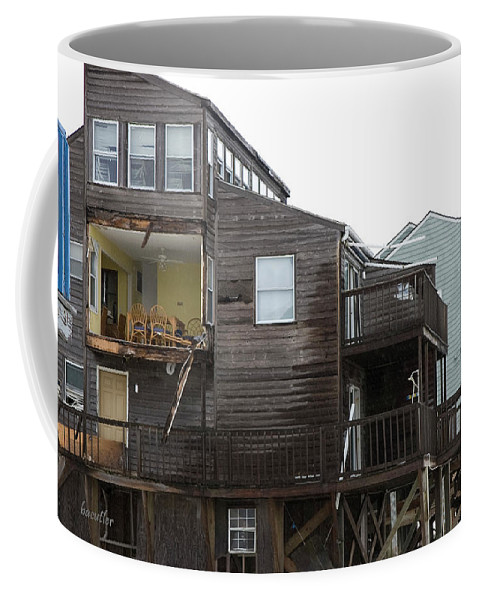 Topsail Coffee Mug featuring the photograph Cottages Of The Past by Betsy Knapp