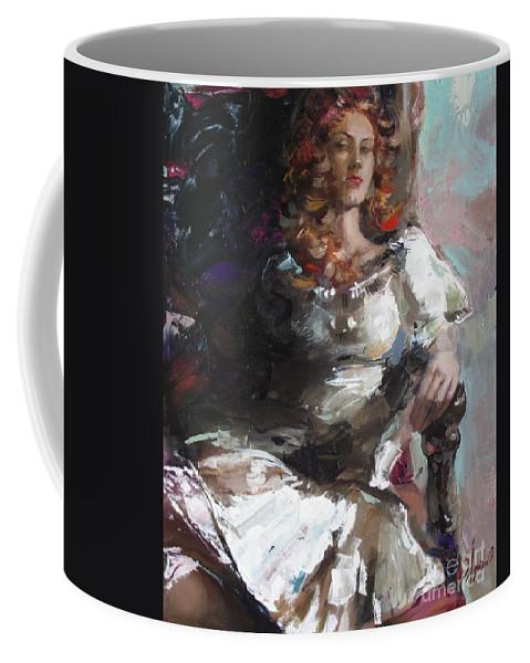 Ignatenko Coffee Mug featuring the painting Countess by Sergey Ignatenko