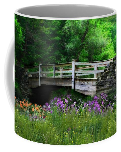 Bridge Coffee Mug featuring the photograph Country Bridge by Lori Deiter