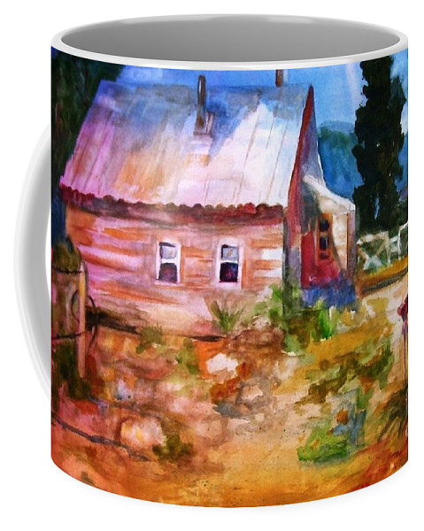 Cottage Coffee Mug featuring the painting Country House by Frances Marino