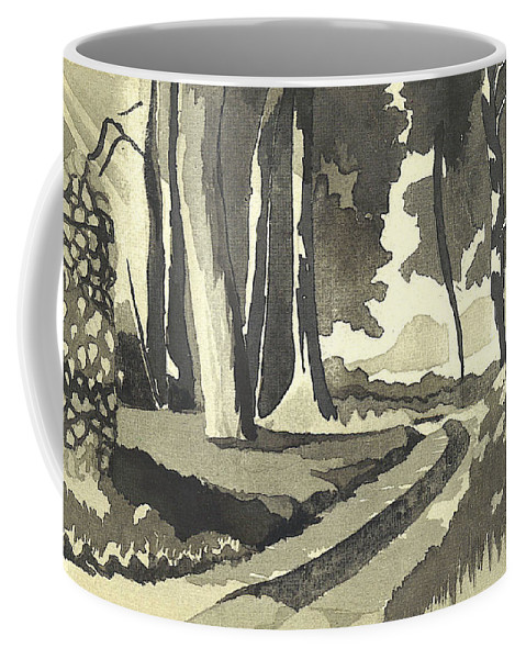 Rural Coffee Mug featuring the painting Country Lane In Evening Shadow by Kip DeVore