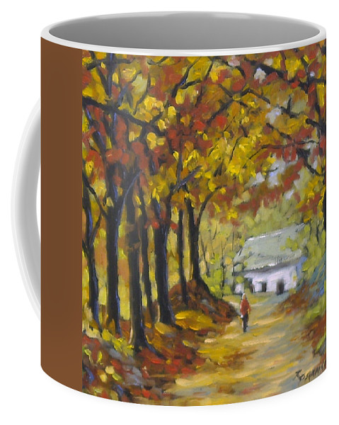Art Coffee Mug featuring the painting Country Lane by Richard T Pranke
