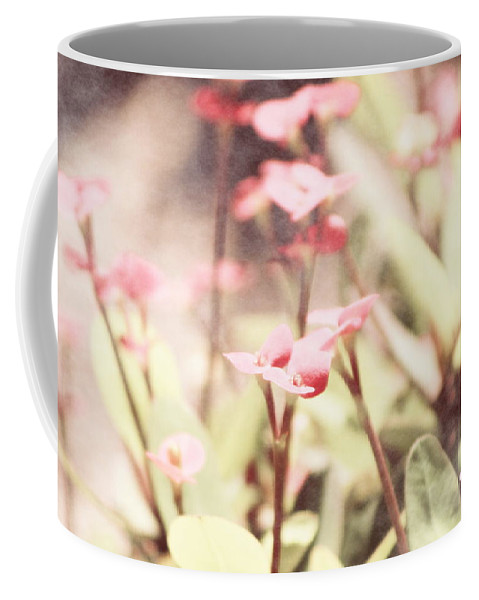 Prism Pink Coffee Mug featuring the photograph Country Memories in Prism Pink by Colleen Cornelius