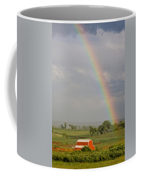 Rainbow Coffee Mug featuring the photograph Country Rainbow by James BO Insogna