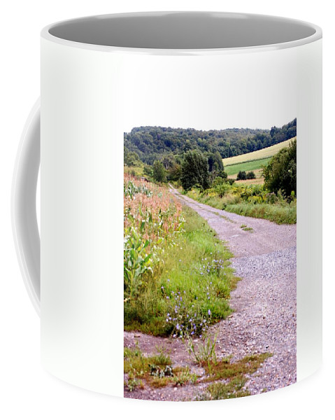 Old Barn Coffee Mug featuring the photograph Country Road by David Lane