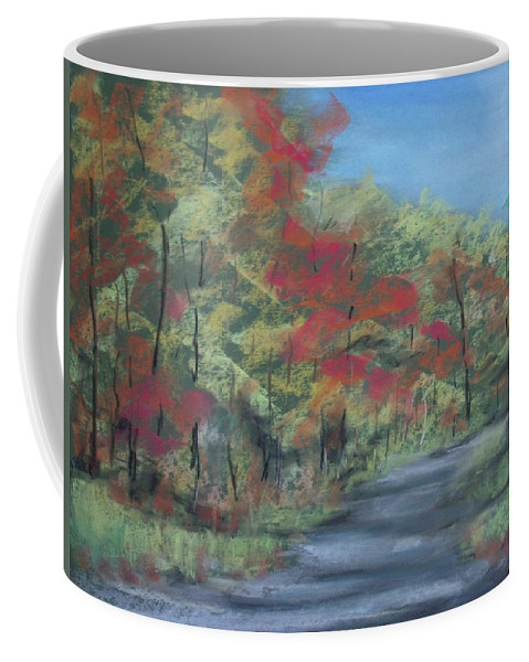 Landscape Coffee Mug featuring the painting Country Road II by Pete Maier