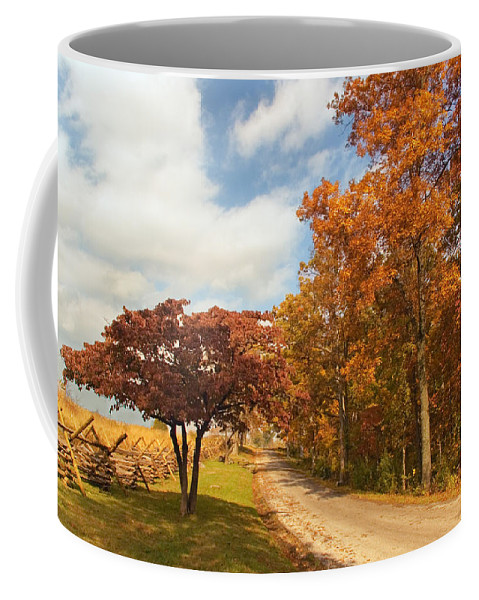 Country Coffee Mug featuring the photograph Country Road by Mick Burkey