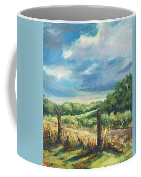 Clouds Coffee Mug featuring the painting Country Road by Rick Nederlof