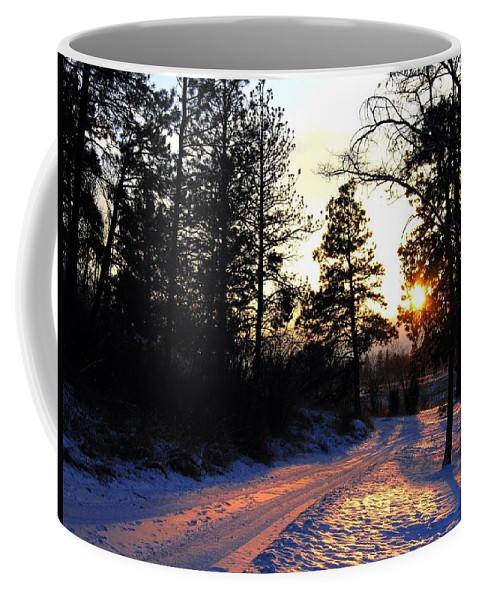 Country Road Coffee Mug featuring the photograph Country Road Sunset by Will Borden