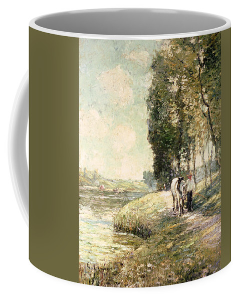 Country Road To Spuyten Coffee Mug featuring the painting Country Road To Spuyten by Ernest Lawson