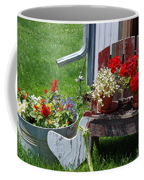 Flowers Coffee Mug featuring the photograph Country Side by Susanne Van Hulst