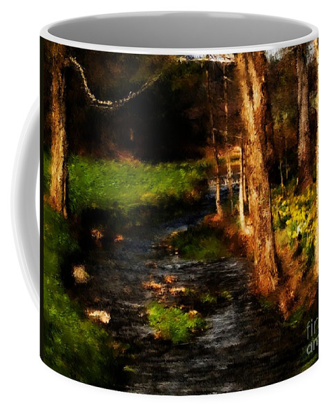 Digital Photo Coffee Mug featuring the photograph Country Stream by David Lane