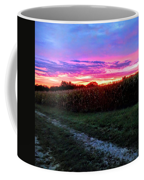 Dawn Coffee Mug featuring the photograph Country Sunrise by Paul Kercher