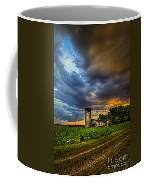 Barns Coffee Mug featuring the photograph Country Tempest by Marvin Spates