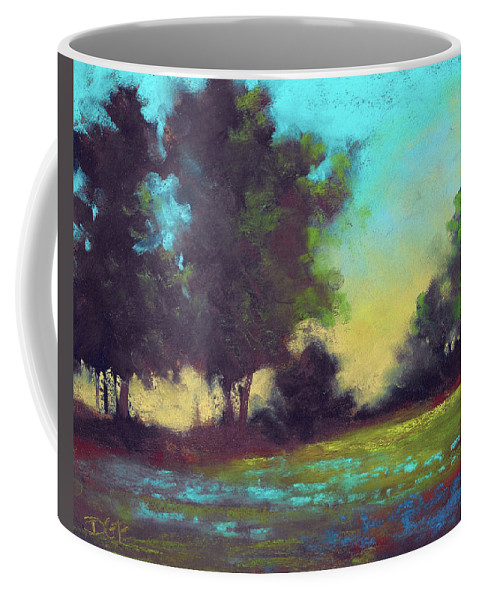 Country Coffee Mug featuring the painting Country Twilight by David G Paul