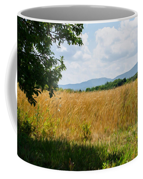 Italy Coffee Mug featuring the digital art Countryside Of Italy 2 by Andrea Mazzocchetti
