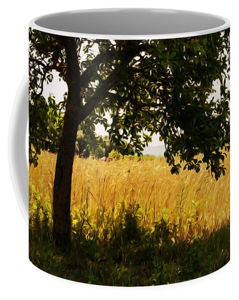 Italy Coffee Mug featuring the digital art Countryside Of Italy by Andrea Mazzocchetti