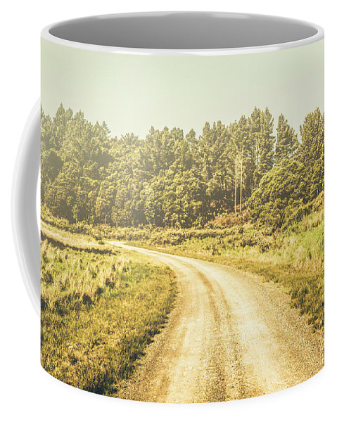 Australian Coffee Mug featuring the photograph Countryside Road In Outback Australia by Jorgo Photography - Wall Art Gallery