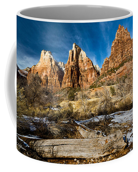Mountains Coffee Mug featuring the photograph Court Of The Patriarchs by Christopher Holmes