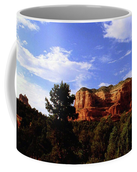 Arizona Coffee Mug featuring the photograph Courthous Butte by Gary Wonning