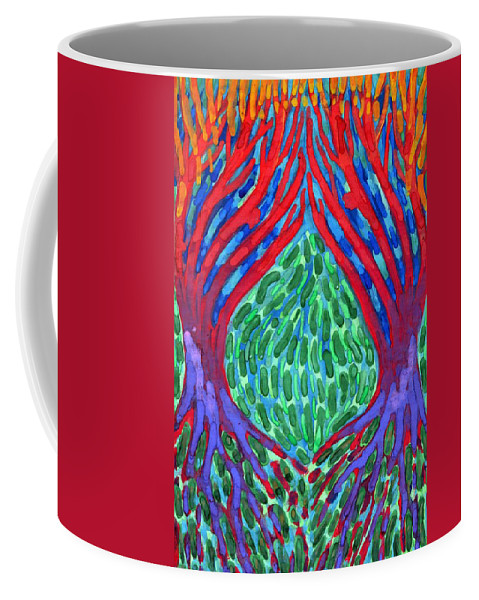Colour Coffee Mug featuring the painting Courtships by Wojtek Kowalski