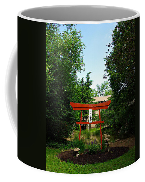 Scenery Coffee Mug featuring the photograph Courtyard by Scott Wyatt