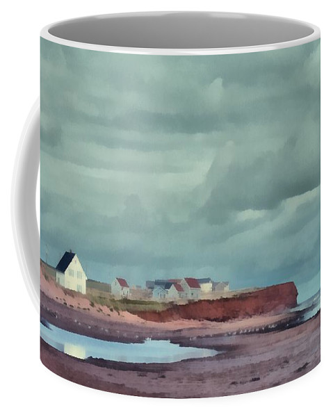 Edward Fielding Coffee Mug featuring the painting Cousins Shore Prince Edward Island Landscape by Edward Fielding