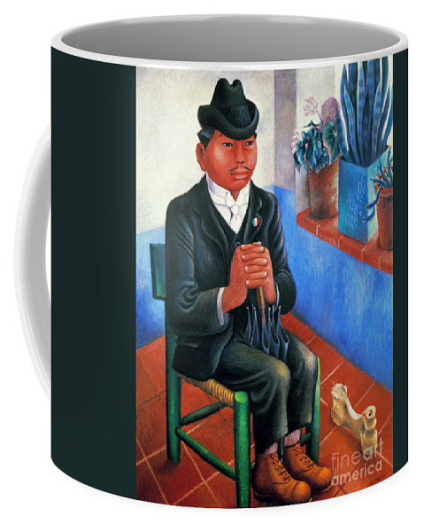 1930s Coffee Mug featuring the photograph Covarrubias: The Bone by Granger