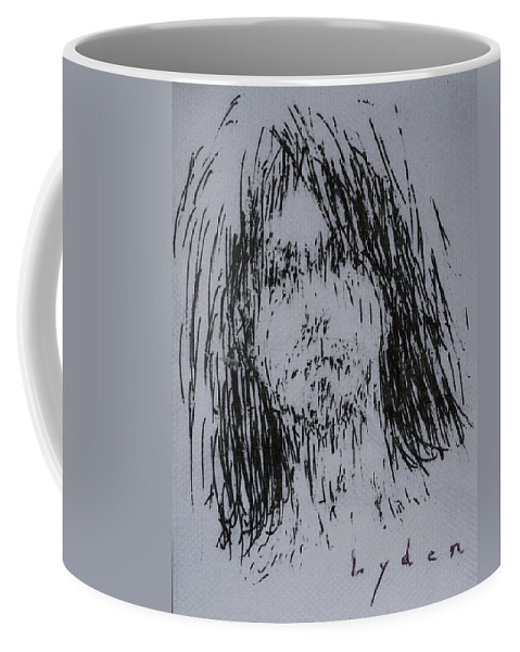 Sketch Coffee Mug featuring the drawing Cove Guy #1 by Les Lyden