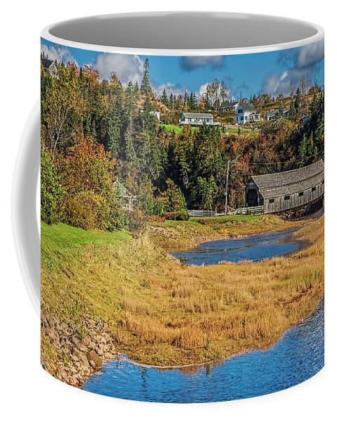 Bridge Coffee Mug featuring the photograph Covered Bridge by Bill Franklin