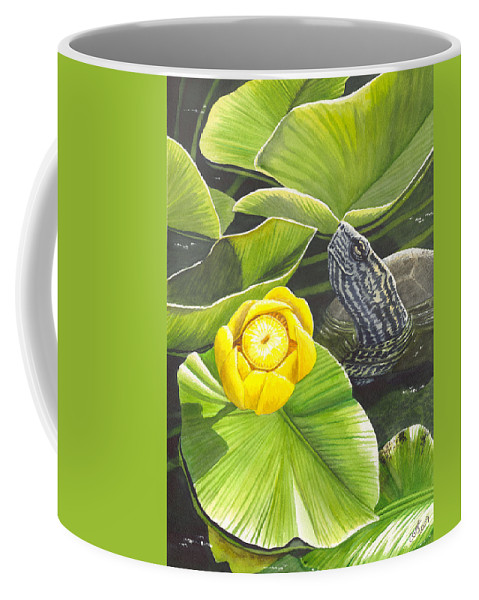 Lily Coffee Mug featuring the painting Cow Lily by Catherine G McElroy