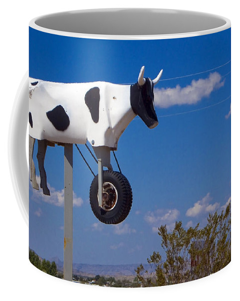 Cow Coffee Mug featuring the photograph Cow Power by Skip Hunt