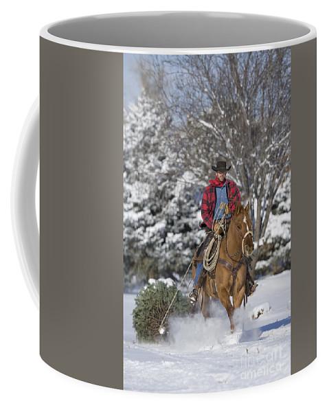 Christmas Tree Coffee Mug featuring the photograph Cowboy Christmas by Carol Walker