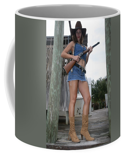 Cowgirl Boots Sexy Hot Glamorous Coffee Mug featuring the photograph Cowgirl 019 by Lucky Cole