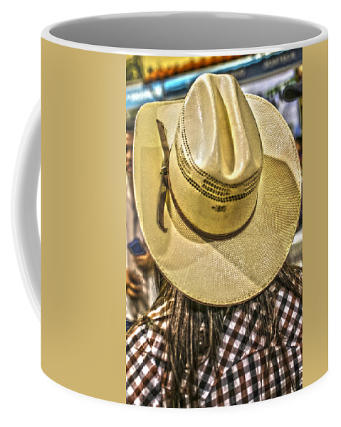San Salvador Coffee Mug featuring the photograph Cowgirl by Totto Ponce