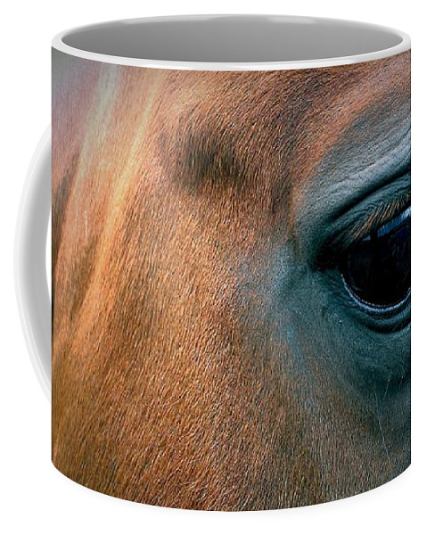 Horse Coffee Mug featuring the photograph Cowgirls Heart by LKB Art and Photography