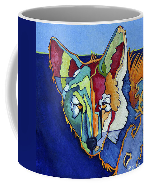 Coyote Coffee Mug featuring the painting Coyote Blue by Rose Collins