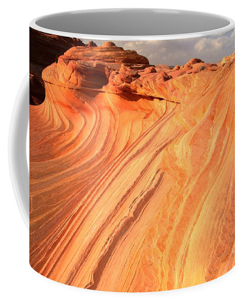 The Wave Coffee Mug featuring the photograph Coyote Buttes Sunset Glow by Adam Jewell