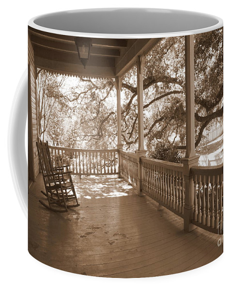 Porch Coffee Mug featuring the photograph Cozy Southern Porch by Carol Groenen