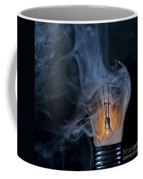 Bulb Coffee Mug featuring the photograph Cracked Bulb by Michal Boubin