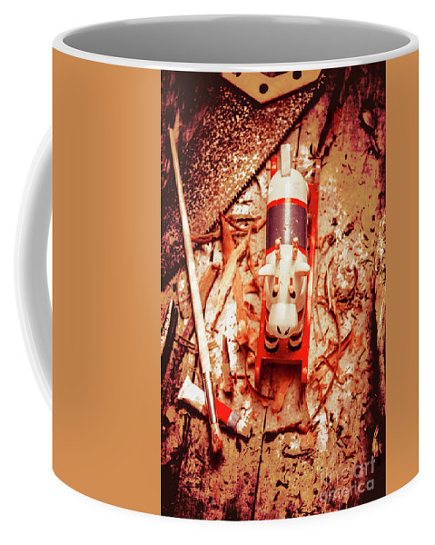 Xmas Coffee Mug featuring the photograph Crafting Christmas Presents by Jorgo Photography - Wall Art Gallery