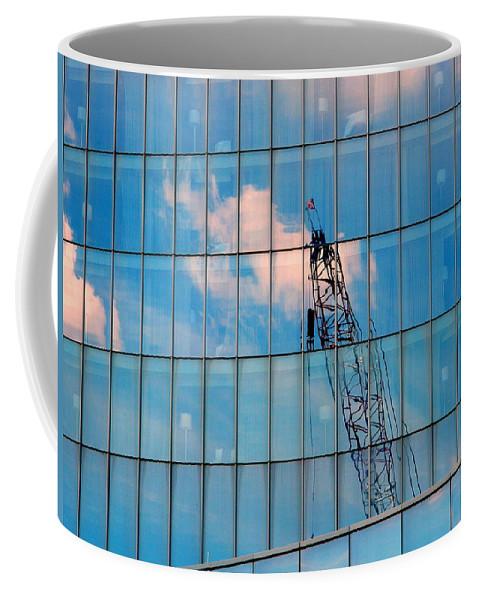 Crane Coffee Mug featuring the photograph Crane Reflection - Atlantic City by Arlane Crump