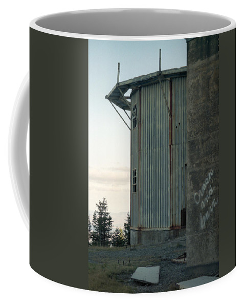 Abandoned Structures Coffee Mug featuring the photograph Crash And Burn by Richard Rizzo