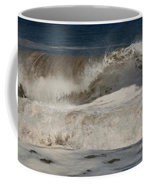 Jersey Shore Coffee Mug featuring the photograph Crashing - Jersey Shore by Angie Tirado