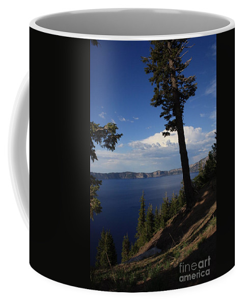 Landscape Coffee Mug featuring the photograph Crater Lake 7 by Carol Groenen