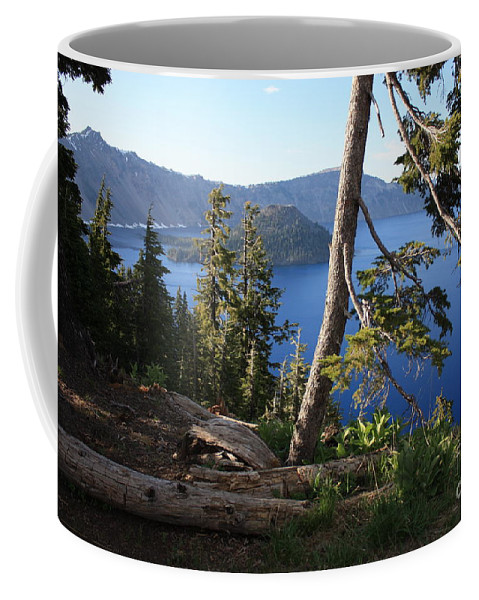 Crater Lake Coffee Mug featuring the photograph Crater Lake 9 by Carol Groenen