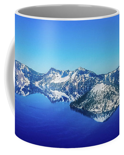 Lake Coffee Mug featuring the photograph Crater Lake Blue by Jonny D