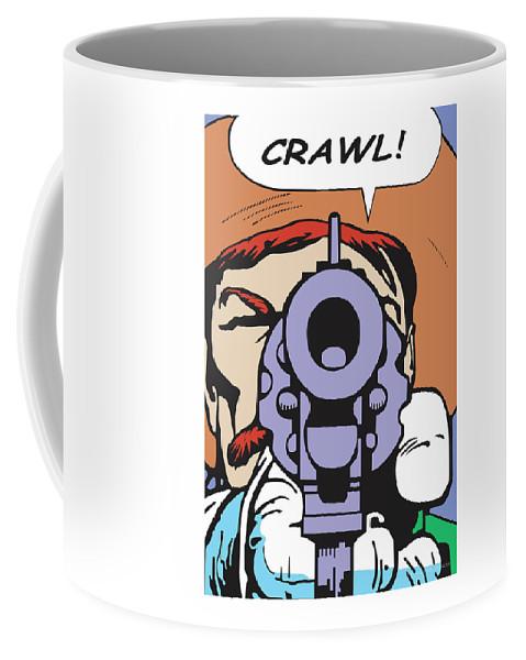 Western Art Coffee Mug featuring the digital art Crawl by Shawn Vernon