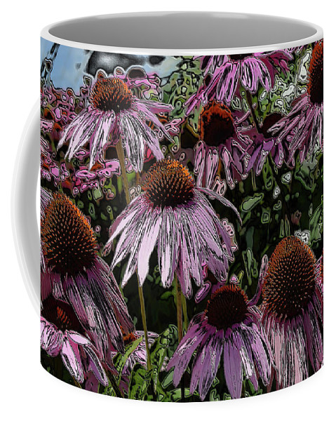 Flowers Coffee Mug featuring the photograph Crazy Flowers by Charles HALL